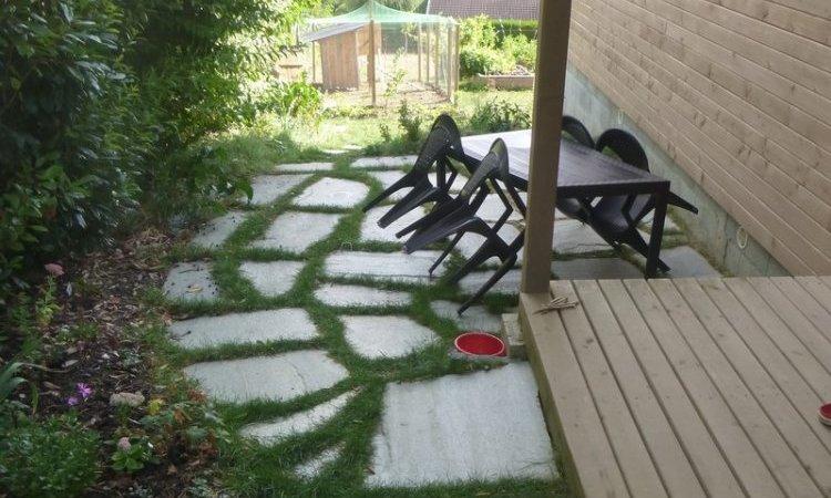 Création terrasse en pierre Annecy