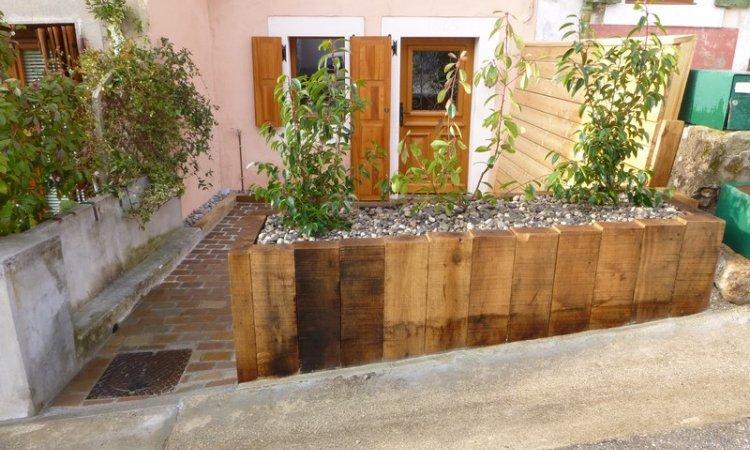 Création de bac de fleur en bois Annecy