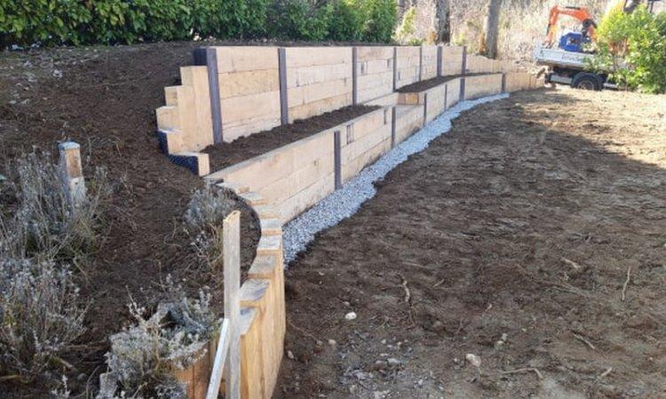 Création de jardinière en muret Annecy