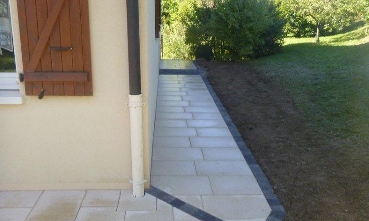 Création de terrasse en dalles Annecy