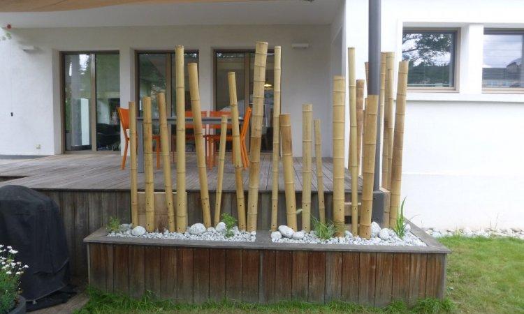brise vue en bambou dans Annecy