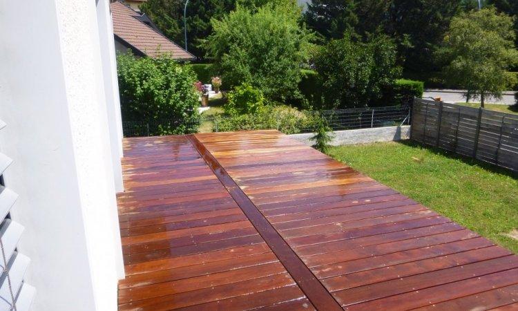 terrasse balcon en bois exotique
